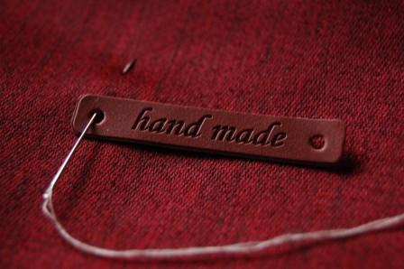 Etiqueta de Piel Handmade