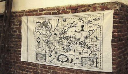 Tela mapa mundial
