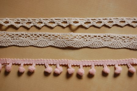 Lace light pink rustic white