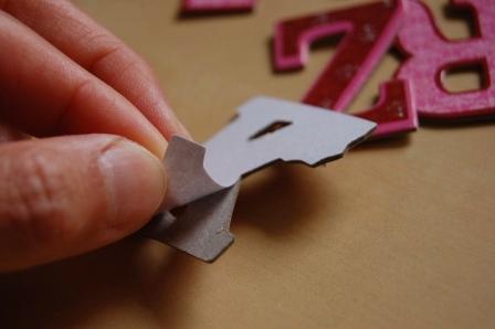 Letras de carton pegatinas