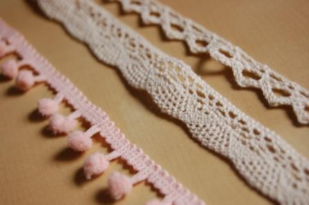 Puntillas rosa blanco rustico