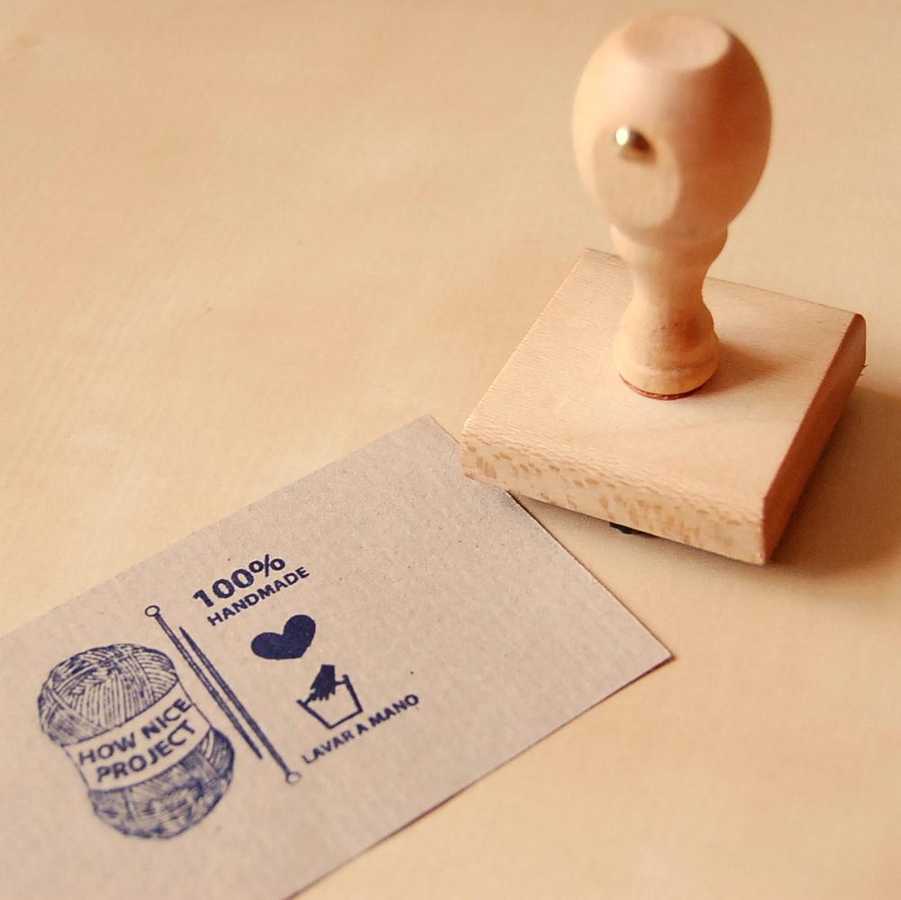 Sello personalizado sello simple con texto how nice for Como hacer sellos