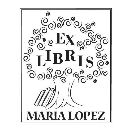 Sello personalizado ex libris rbol de sabiduria how - Ex libris personalizados ...
