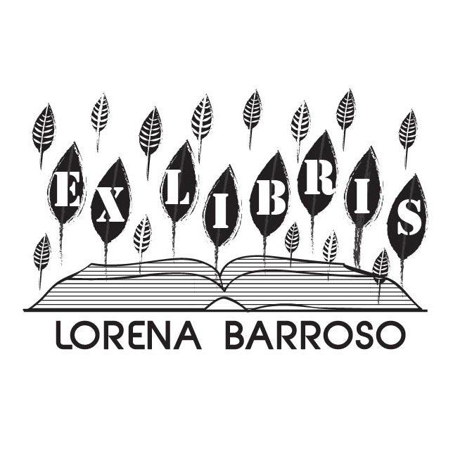 sello ex libris bosque de libros