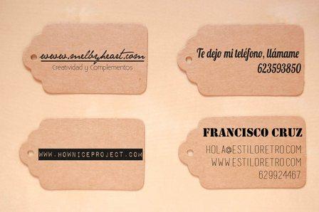 sellos tarjeta de visita DIY
