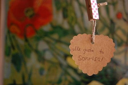 Etiquetas carton corazon