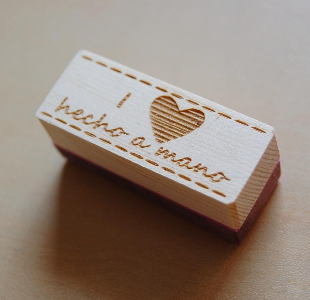 Sello i heart handmade how nice project for Hecho a mano