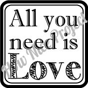 sello de caucho amor
