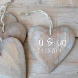 decoración boda madera