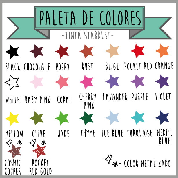 Tinta sello stardust colores (2)