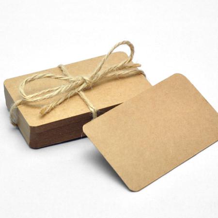 tarjetas papel kraft