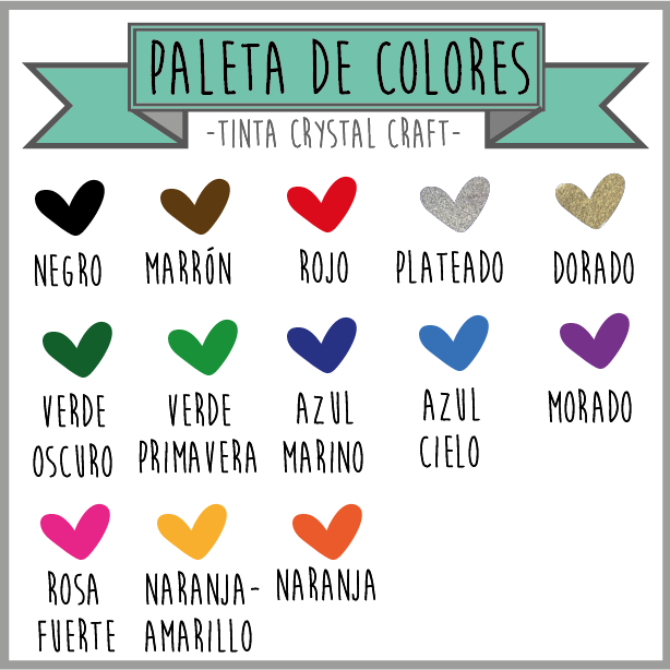 tinta crystal craft colores