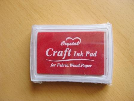 tinta sello craft rojo