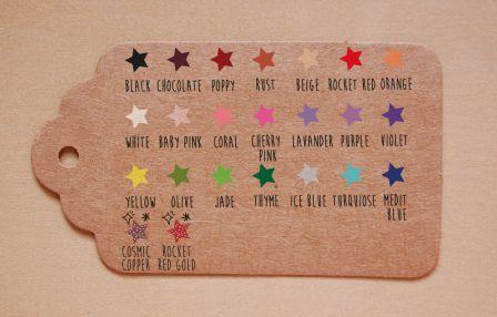 tinta sello sobre etiqueta kraft stardust