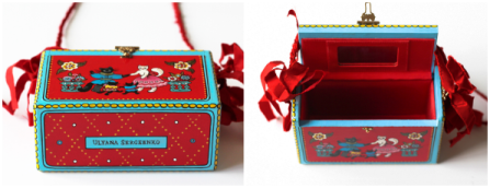 Bolso caja decorada
