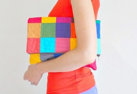 Bolso de mano patchwork