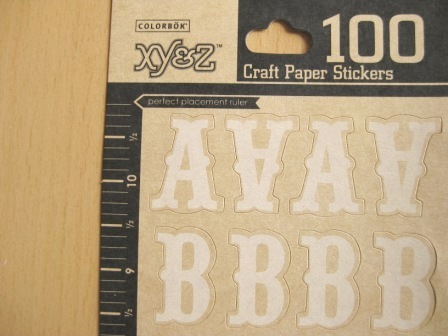 Colorbok letras pegatinas craft papel
