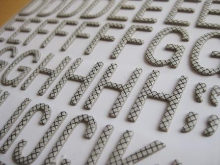 Letras de carton decorativas pegatinas