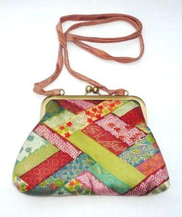bolso con boquilla telas japonesa
