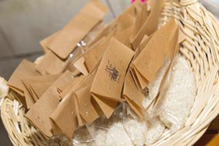 bolsas de arroz idea sello personalizado