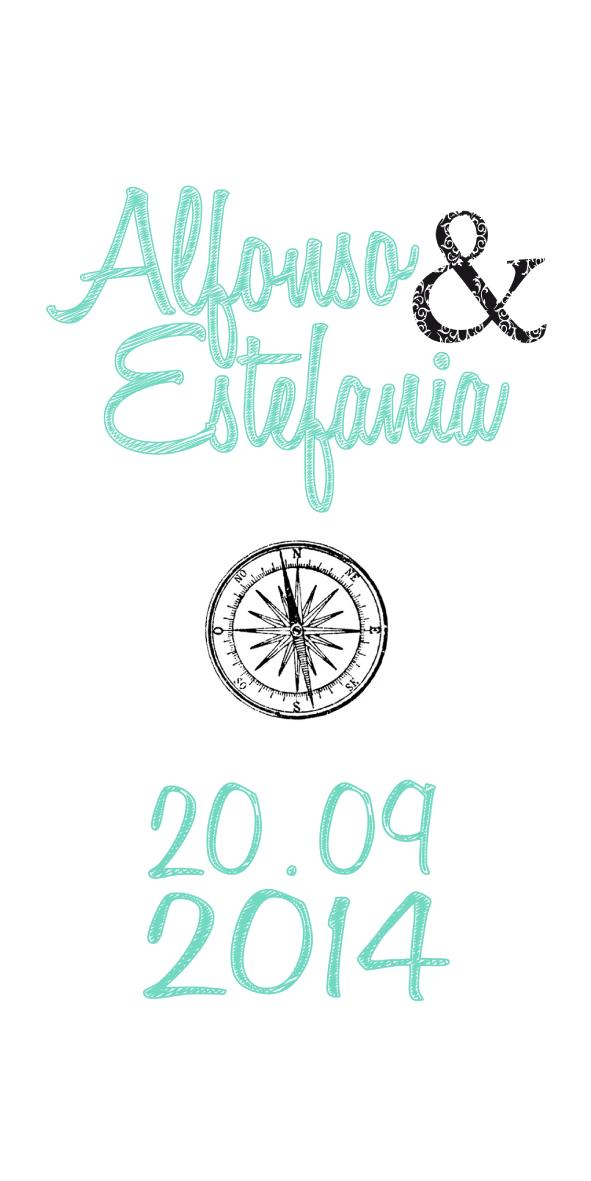 sello personalizado para invitaciones de boda cubierta
