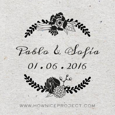 corona de flors segell casament