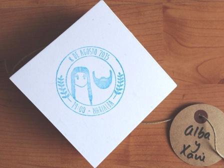 sello personalizado boda divertido bonito idea