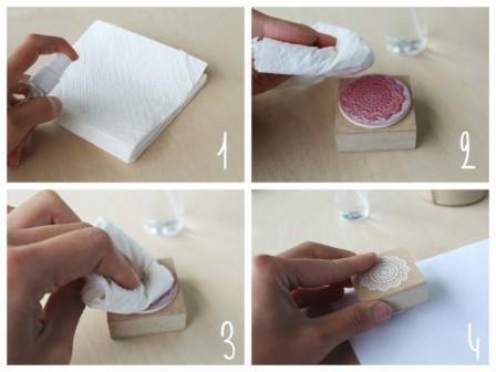 como limpiar y cuidar sellos personalizados caucho