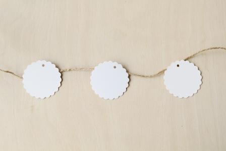 etiqueta blanca 5 cm redonda galleta kraft