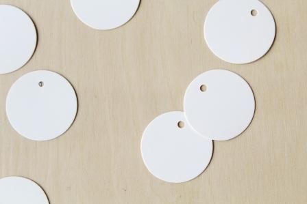 etiquetas kraft blancas redondas