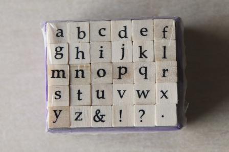 segells fusta alfabet