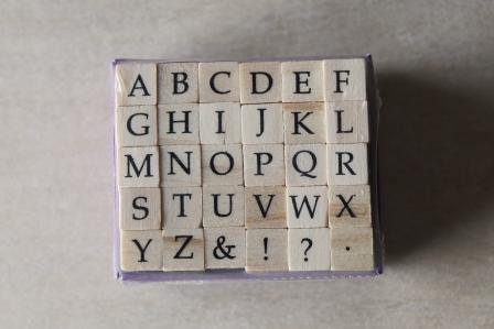 sellos abecedario mayuscula baskerville