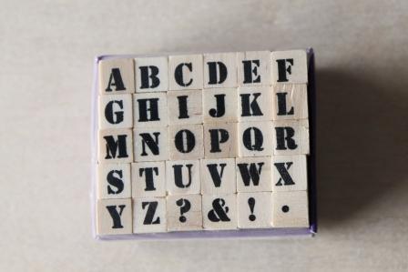 sellos letras madera stencil