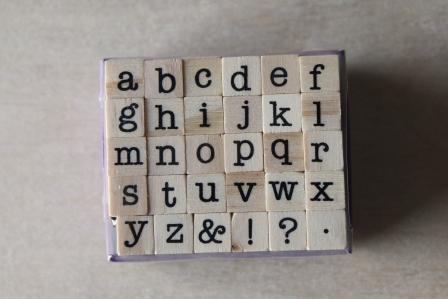 sellos mini letras