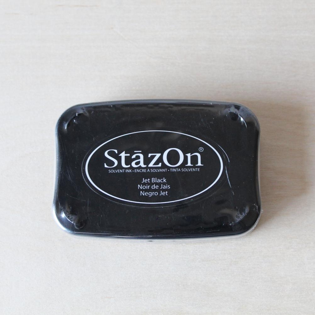 Tinta Stazon solvente negro jet black