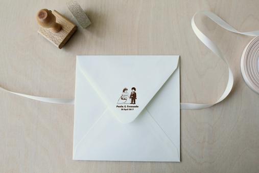 sello boda pareja de novios