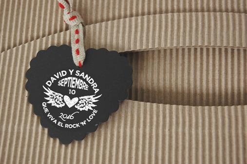 sello personalizado boda rock