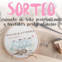 Sorteo boda españa sello personalizado porta alianzas
