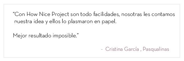 recomendación diseño grafico Pasqualinas