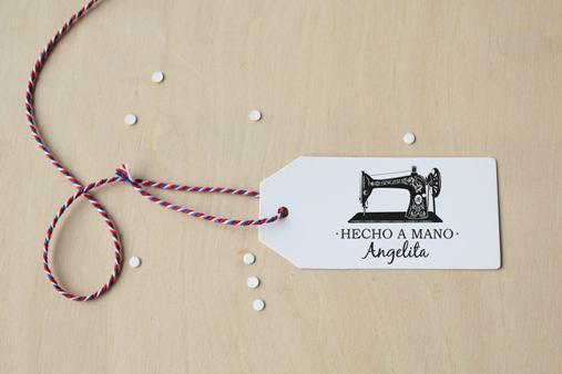 sello hecho a mano para costura vintage