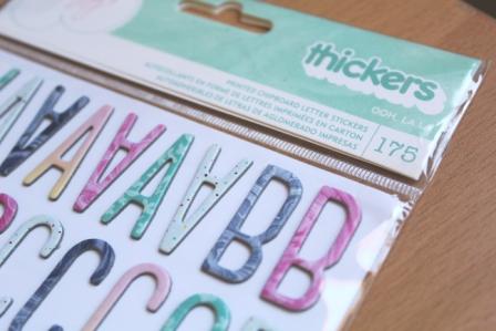Thickers oh la la letras en carton colores scrapbooking