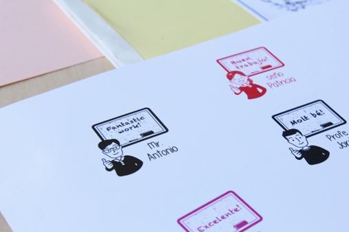 sello para profesor y maestro para deberes de alumnos