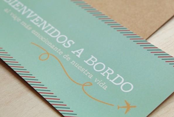 Invitaciones De Boda Boarding Pass Tarjeta De Embarque
