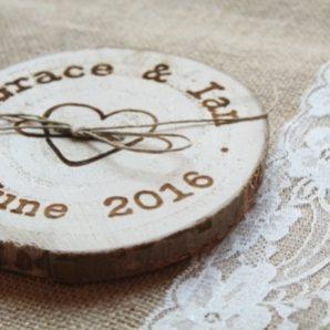 Porta alianzas y porta arras para bodas