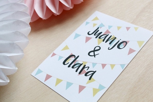 invitaciones de boda tonos pasteles