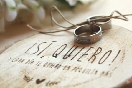 Porta alianzas para boda