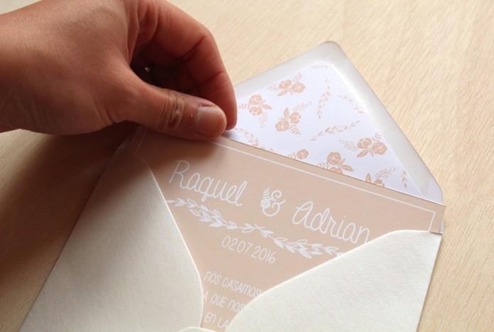 invitaciones de boda rustica moderna