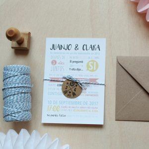 invitaciones de boda historia de amor