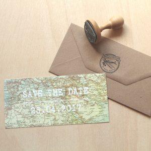 invitaciones de boda mapamundi
