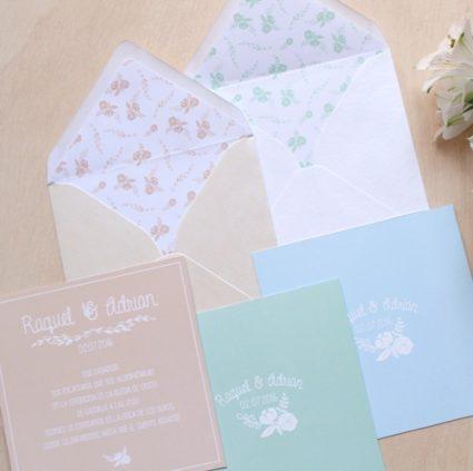 invitaciones de boda rustica floral